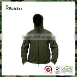 Olive Men Hooded Fleece Warm Jacket
