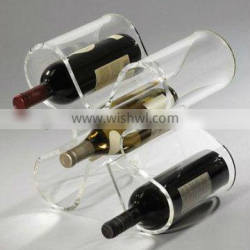 Pop acrylic wine bottle holder
