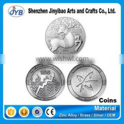 custom metal antique and silver minting coin