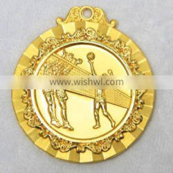 challenge sports running metal gold-plated miraculous medals