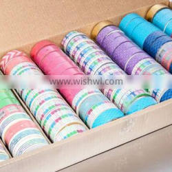 Wholesale waterproof decorative glitter tape, custom printed glitter