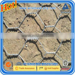 chicken wire Galvanized Hexagonal Wire Mesh as Gabion Box