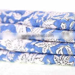 Dressmaking Sewing Fabric By Meter Indian 2017 Hand Block Cotton Fabric Crafting