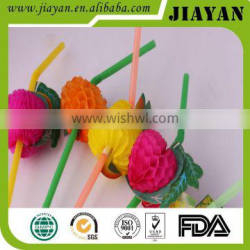 New design flexible drinking straw with fruit design