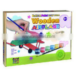 DIY Toy Kids Build and Paint Wooden Airplane