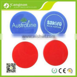 Promotional cheap embossed acrylic token DIY plastic printed coin