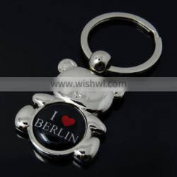 Custom Tourism Metal Bear Key Ring Germany Berlin Souvenir Keychain