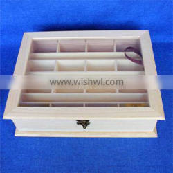 square wood gift boxes with internal holes