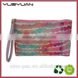 2016 OEM American style zipper portable cosmetic organizer gift pouch make up bags for girls