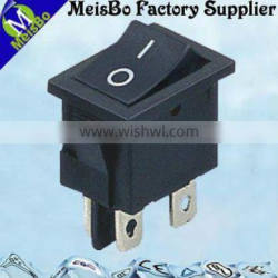 Black mini on off rocker switch 16a 250v in CE standard
