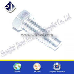 China supplier online shopping carbon steel zinc plated hexagon bolt