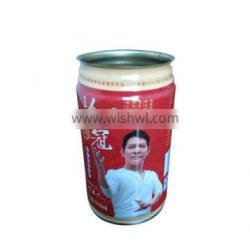 310ml empty round soft drink tin can for carbonated drinks