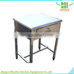 students used stainless steel table/desk