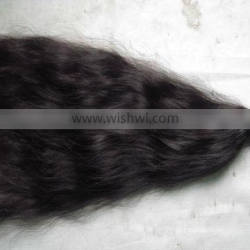 "24"" Inch Hair Extention 100% Unprocessed Brazilian Hair, Natural Wave, Natural Black"