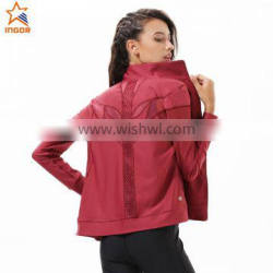 training spring custom sports women long wholesale fashion red running outdoor jacket