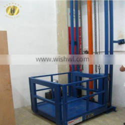 7LSJC Shandong SevenLift hydraulic cylinder telescopic commercial goods cargo elevator used machine platform for lift 300kg load
