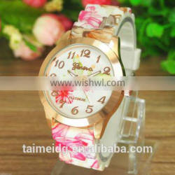 China factory custom print silicon wrist watches