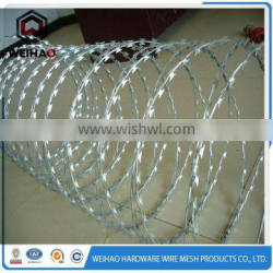 Alibaba.com Hot selling in India barbed wire with keen-edged razor