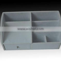 China factory Faux Leather Storage Packaging Boxes for office