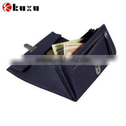 Purple best leather thin card wallet for men and women