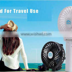 Hot Sale 18650 lithium battery powered Rechargeable USB mini fan