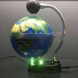 6 inch levitation magnetic rotating globe for gift