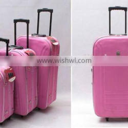closeout stock stocklot overstock 3pcs EVA outer upright trolley baggage set