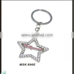 Beautiful Diamond Jewelry Hollywood Souvenirs Star Shaped Metal Keychain