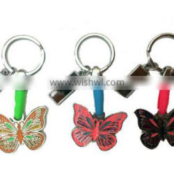 Metal Key chain Butterfly with Metal Part