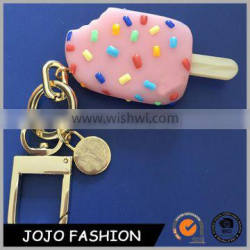 Wholesale Popular Model Summer Ice Cream Custom Logo Made Plastic Keychain