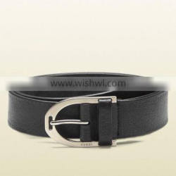 LBB-355028 Alloy Buckle Genuine Cowhide Leather Black Business Belt