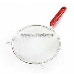 cooking tool stainless iron mesh strainer with doulbe ear