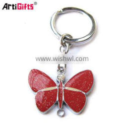 High quality metal sticker and epoxy logo travel souvenir keychain