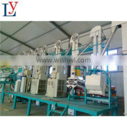 50T/Day maize flour corn grits mill grinding machine plant from China