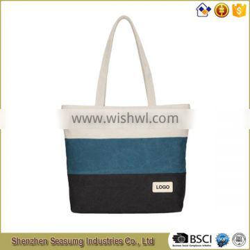 2016 New Design Wholesale Printing Canvas Tote Bag