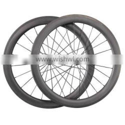 2016 On promotion carbon road bicycle tubular rims 56mm UD matt road bike wheels