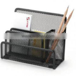 B83338 silver office metal mesh letter tray