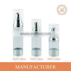 20ML vacuum pump bottle for cosmetic with clear transparent body