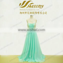 2016 new design hot sale girl oversize sexy sweetheart pleats beaded long bridesmaid dress