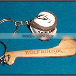 Hurling Ball & Stick Keychain, Real Miniatures
