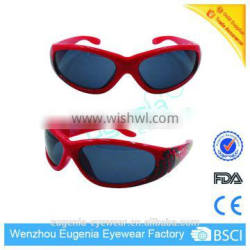 the latest fashion sport red frame promotion kids sunglasses