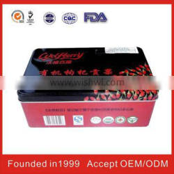 Rectangle Tin Box For Gift Packaging