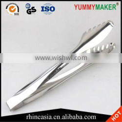 Comb shape stainless steel food serving tongs metal food tongs grill tongs