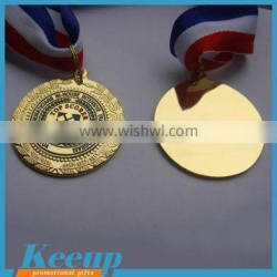 2016 Engraved Gold Blank Award Medal with Competition/cheap award medals