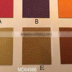 NEW PATTERN PU leather with thermal colors stamping LOGO on surface