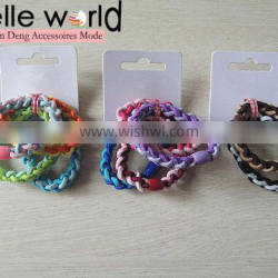 wholesale girls knot colors elastic hair ties bands