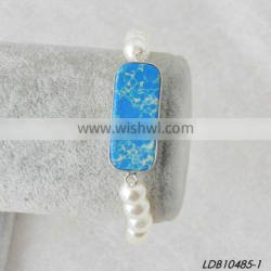 New Design China Natural Stone and Pearl Bracelet