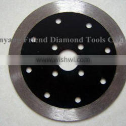 sintered continuousrim diamond saw blade for wet cutting