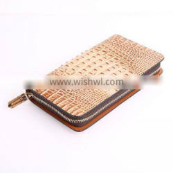 Alibaba China new genuine leather european model purse and wallet