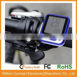 Waterproof bike computers for cycling large LCD displa with heart rate monitor CE RoHs tested